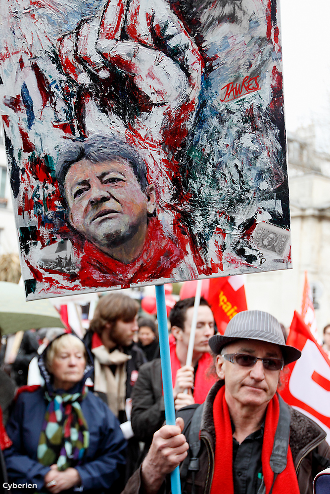 Melenchon art at demo-cyberien 94