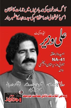 Cartel electoral del compañero Alí Wazir