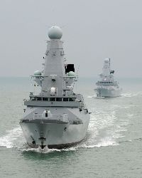 Buque de guerra HMS Dauntless. Foto: LA(Phot) Ian Simpson, Royal Navy, Crown Copyrigh